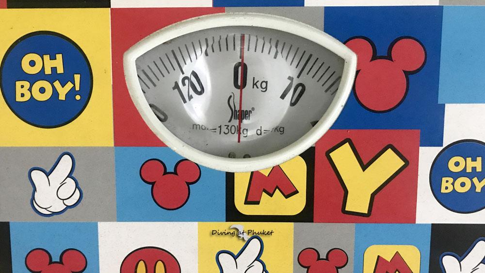 プーケット 体重計