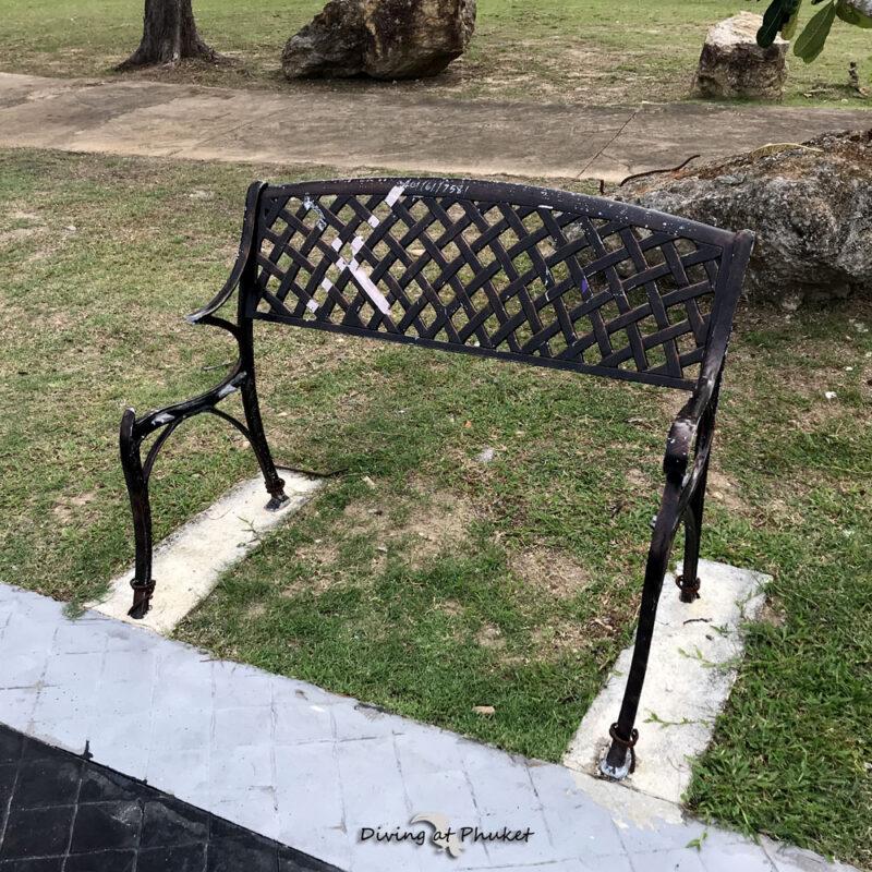 プーケット 公園の椅子