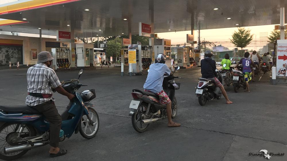 プーケット ガソリンスタンド